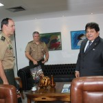 Presidente da ALPB recebe comandante do Grupamento de Engenharia