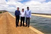 Secretário João Azêvedo, Deusdete Queiroga e o deputado estadual, Jeová Campos